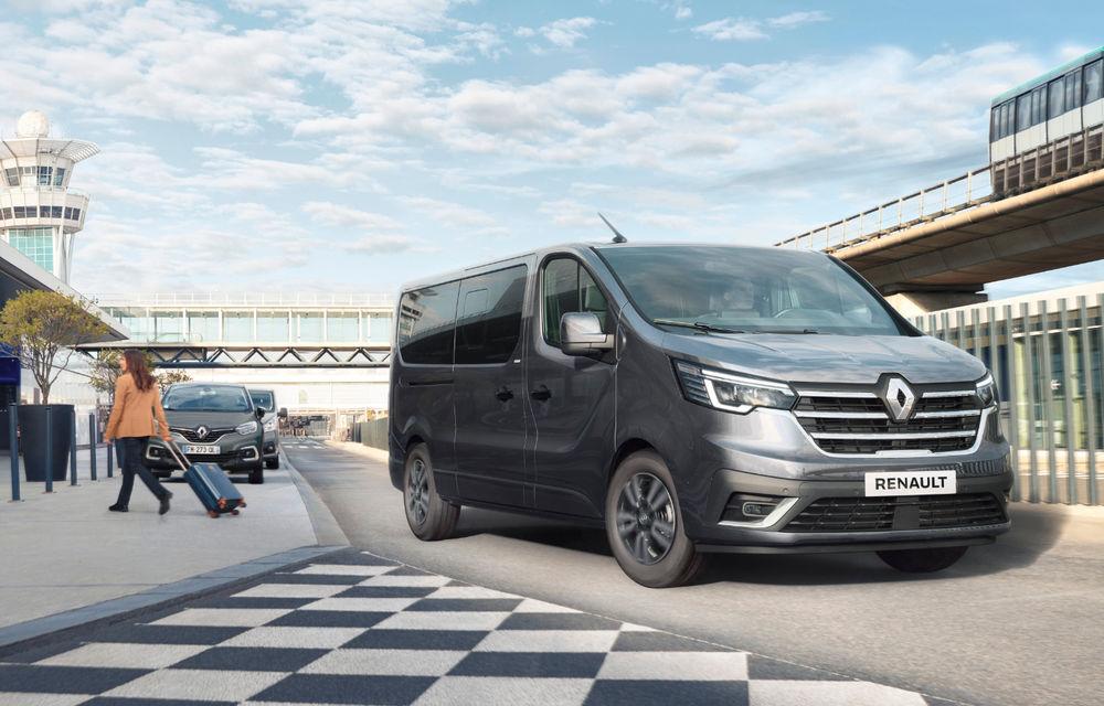 Primele imagini cu Renault Trafic facelift: noua gamă pentru transportul de pasageri primește modificări de design și motoare diesel de până la 170 CP - Poza 2