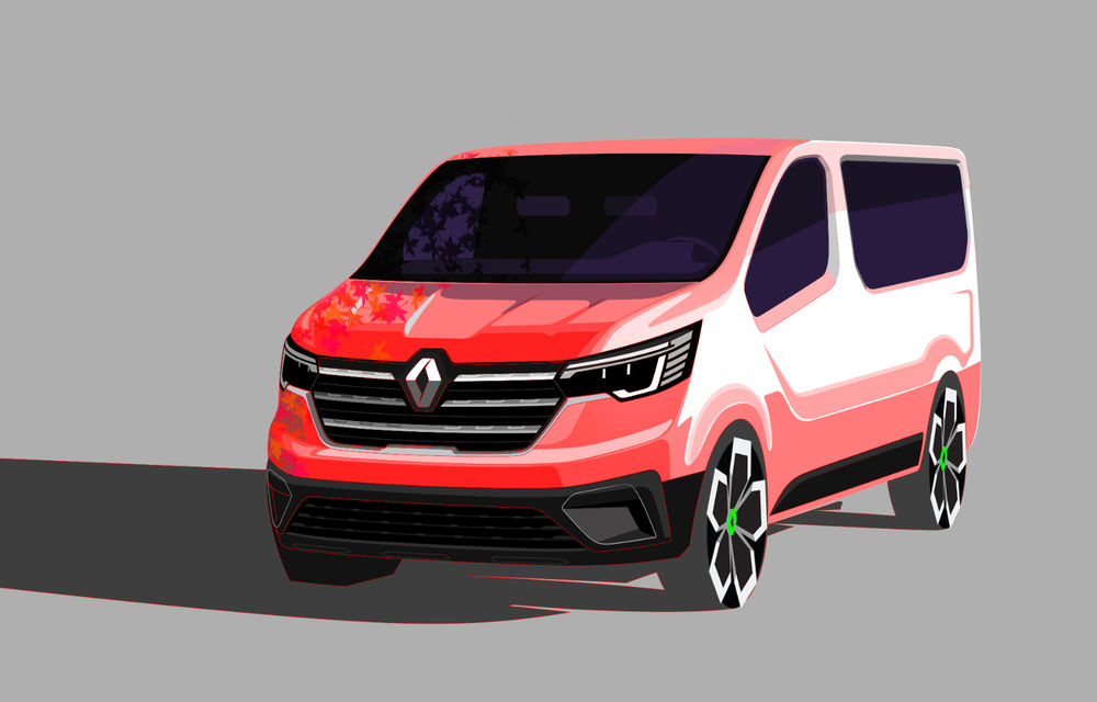 Primele imagini cu Renault Trafic facelift: noua gamă pentru transportul de pasageri primește modificări de design și motoare diesel de până la 170 CP - Poza 5