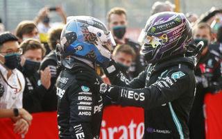 """Bottas nu s-a simțit dezavantajat în cursa de la Imola: """"Strategia la boxe a lui Hamilton a fost corectă"""""""