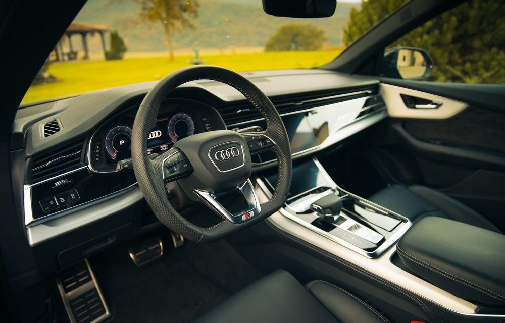 """PORTRET: Audi Q8 55 TFSI după 2000 de kilometri: """"Totul e corect, la dungă, fără excese, fără explozii, fără imprevizibil"""" - Poza 49"""