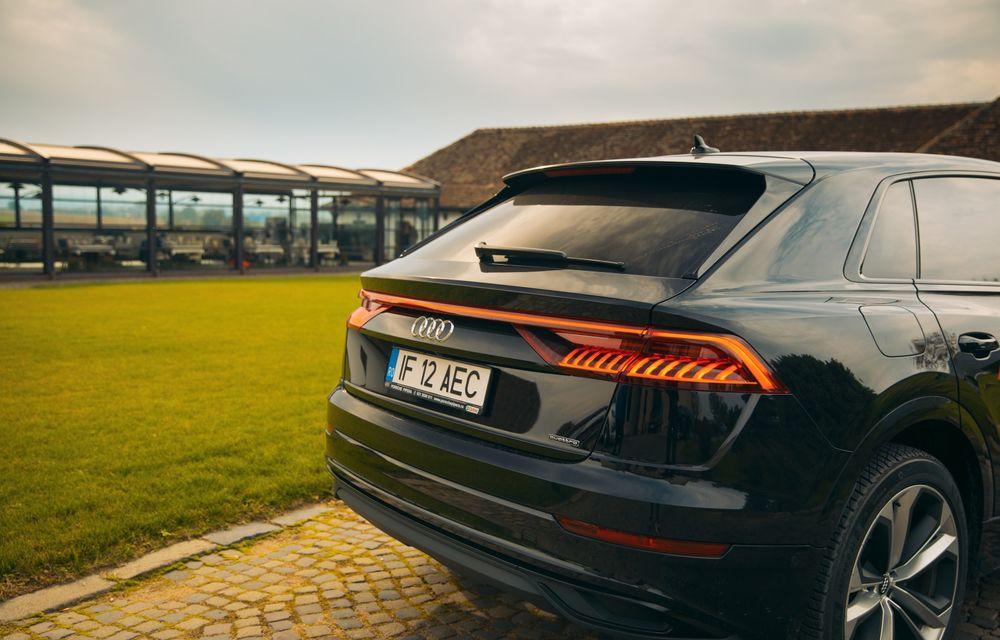 """PORTRET: Audi Q8 55 TFSI după 2000 de kilometri: """"Totul e corect, la dungă, fără excese, fără explozii, fără imprevizibil"""" - Poza 27"""