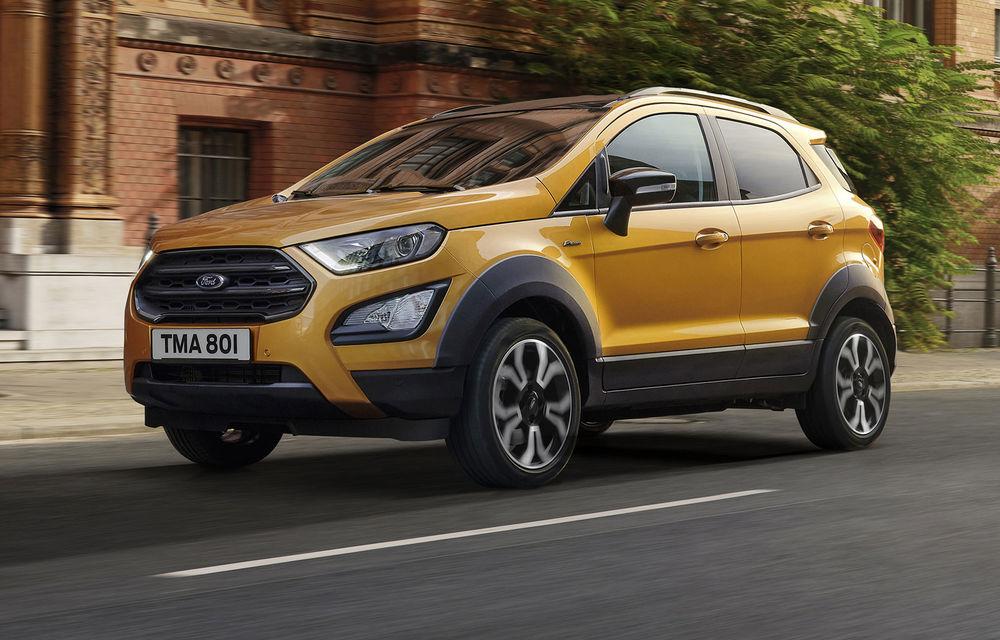 Primele imagini și informații despre Ford Ecosport Active: noua versiune cu gardă la sol mai ridicată costă 21.100 de euro - Poza 1