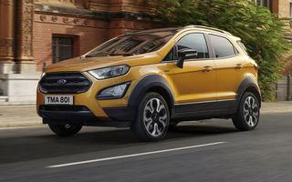 Primele imagini și informații despre Ford Ecosport Active: noua versiune cu gardă la sol mai ridicată costă 21.100 de euro