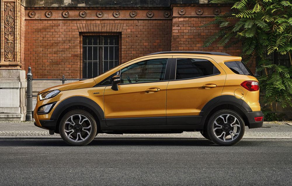 Primele imagini și informații despre Ford Ecosport Active: noua versiune cu gardă la sol mai ridicată costă 21.100 de euro - Poza 3