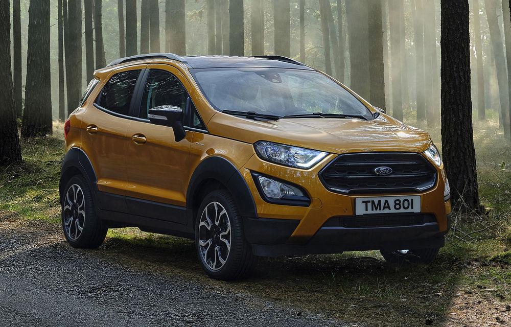 Primele imagini și informații despre Ford Ecosport Active: noua versiune cu gardă la sol mai ridicată costă 21.100 de euro - Poza 2