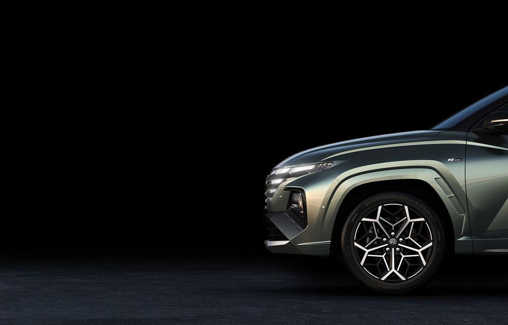 Primele imagini teaser cu noua generație Hyundai Tucson N Line: design mai agresiv pentru SUV-ul asiatic - Poza 3