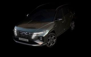 Primele imagini teaser cu noua generație Hyundai Tucson N Line: design mai agresiv pentru SUV-ul asiatic