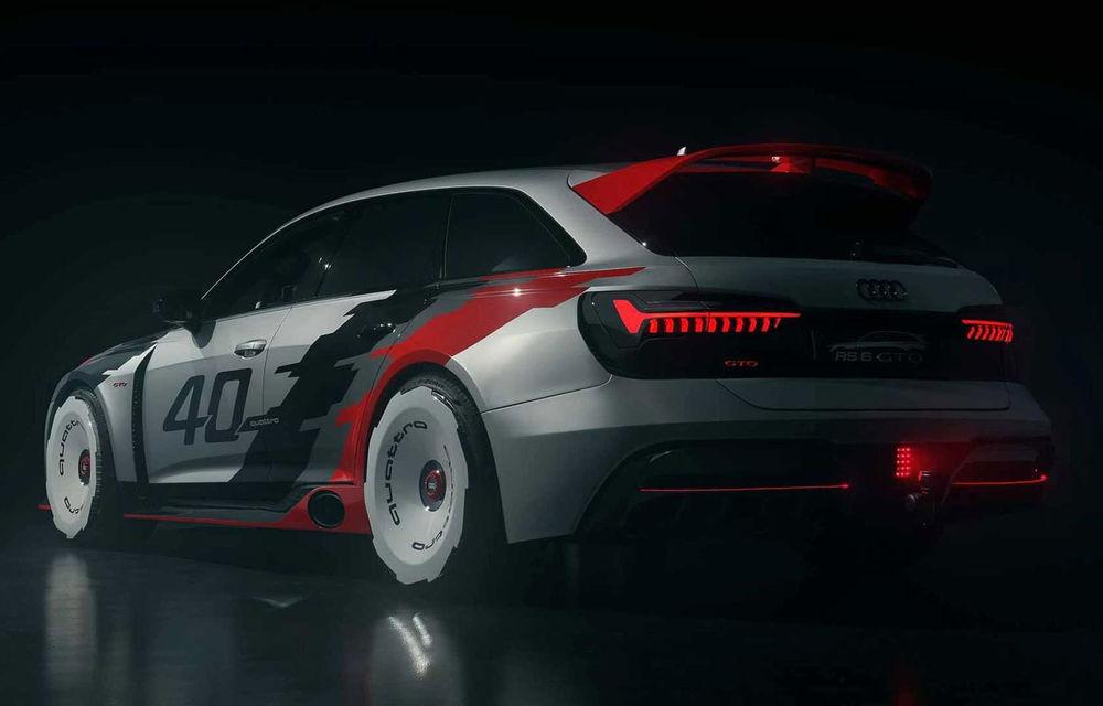 Audi aniversează 40 de ani de la introducerea sistemului quattro: nemții au lansat proiectul RS6 GTO, un vehicul inspirat de vehicul Audi 90 Quattro IMSA GTO - Poza 1