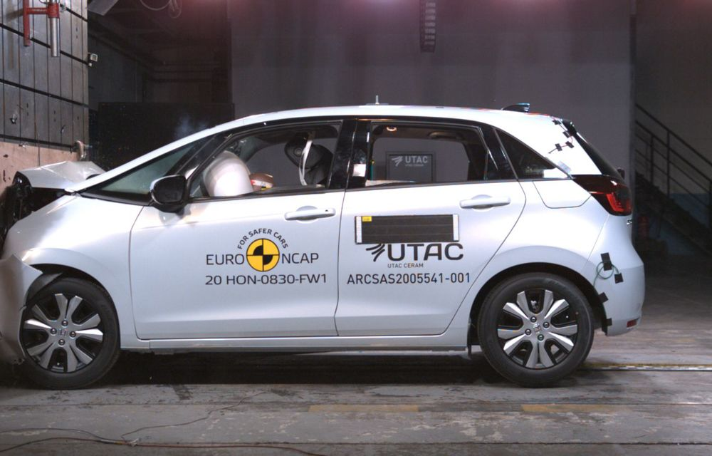 Teste Euro NCAP: SUV-ul electric Mazda MX-30 și noua generație Honda Jazz au obținut 5 stele la testele de siguranță - Poza 7