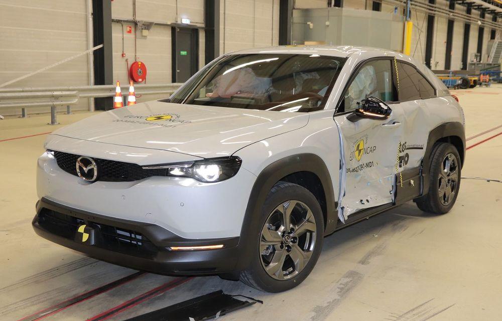 Teste Euro NCAP: SUV-ul electric Mazda MX-30 și noua generație Honda Jazz au obținut 5 stele la testele de siguranță - Poza 12