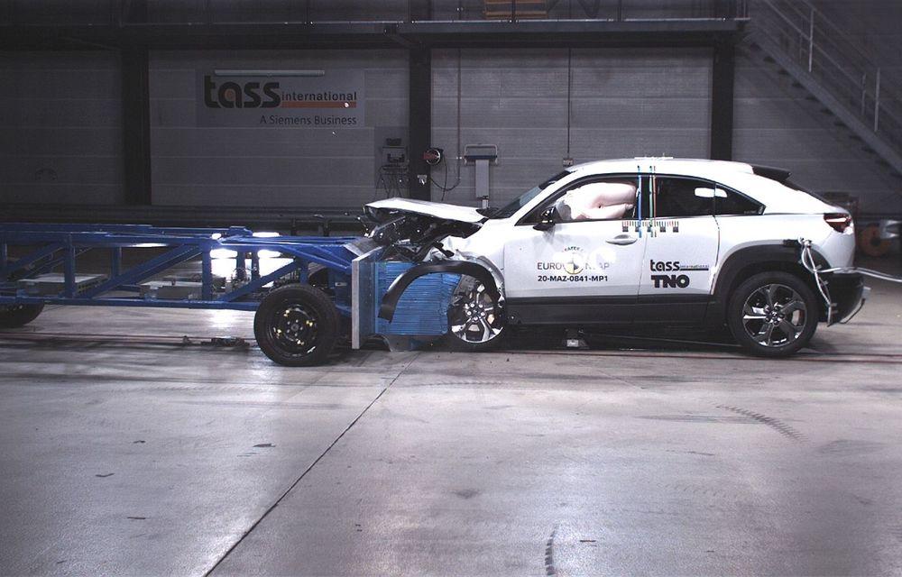 Teste Euro NCAP: SUV-ul electric Mazda MX-30 și noua generație Honda Jazz au obținut 5 stele la testele de siguranță - Poza 13