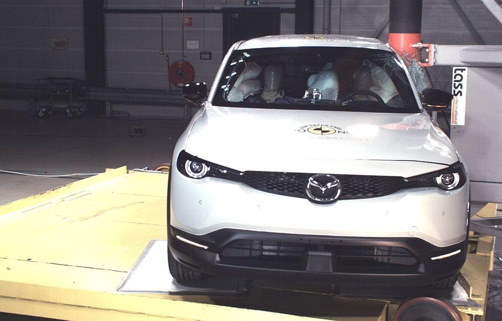 Teste Euro NCAP: SUV-ul electric Mazda MX-30 și noua generație Honda Jazz au obținut 5 stele la testele de siguranță - Poza 16
