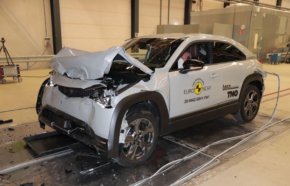 Teste Euro NCAP: SUV-ul electric Mazda MX-30 și noua generație Honda Jazz au obținut 5 stele la testele de siguranță - Poza 10