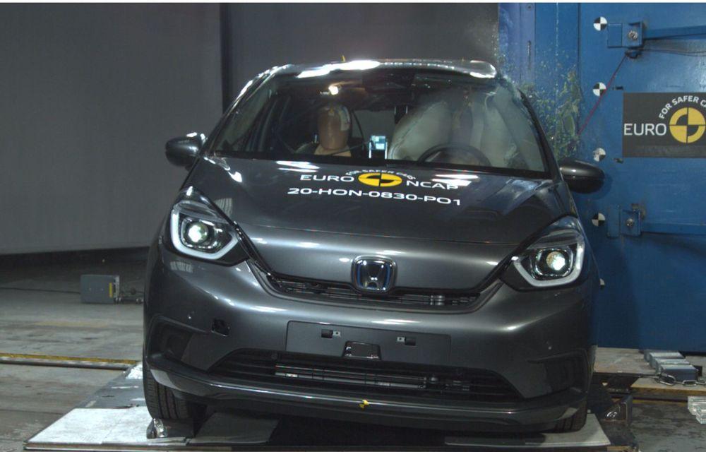 Teste Euro NCAP: SUV-ul electric Mazda MX-30 și noua generație Honda Jazz au obținut 5 stele la testele de siguranță - Poza 6