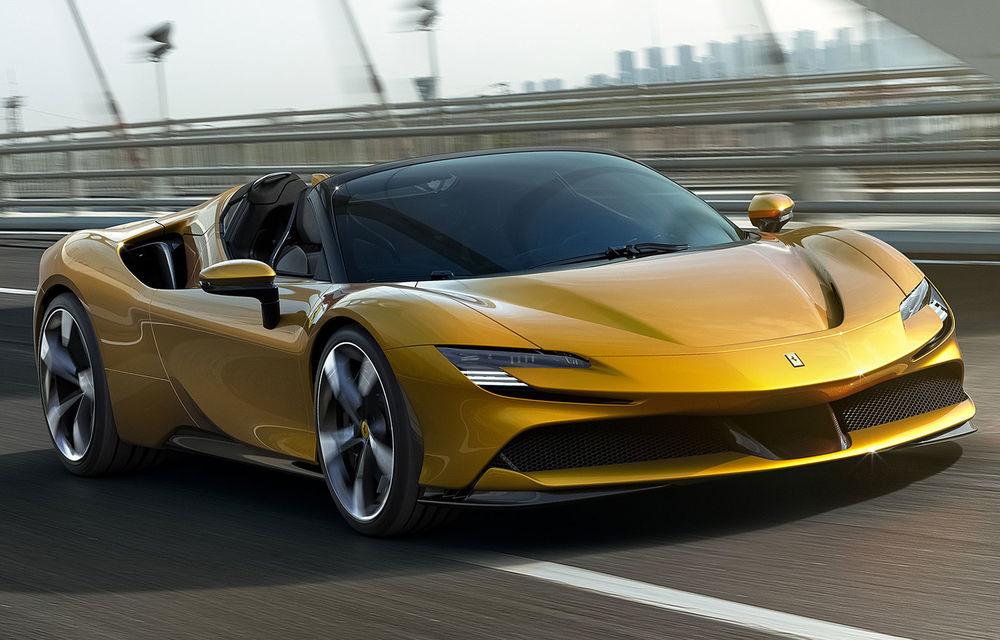 Ferrari a prezentat noul SF90 Spider: plafon hard top care poate fi coborât în 14 secunde și sistem plug-in hybrid de propulsie cu 1.000 CP - Poza 1