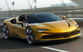 Ferrari a prezentat noul SF90 Spider: plafon hard top care poate fi coborât în 14 secunde și sistem plug-in hybrid de propulsie cu 1.000 CP