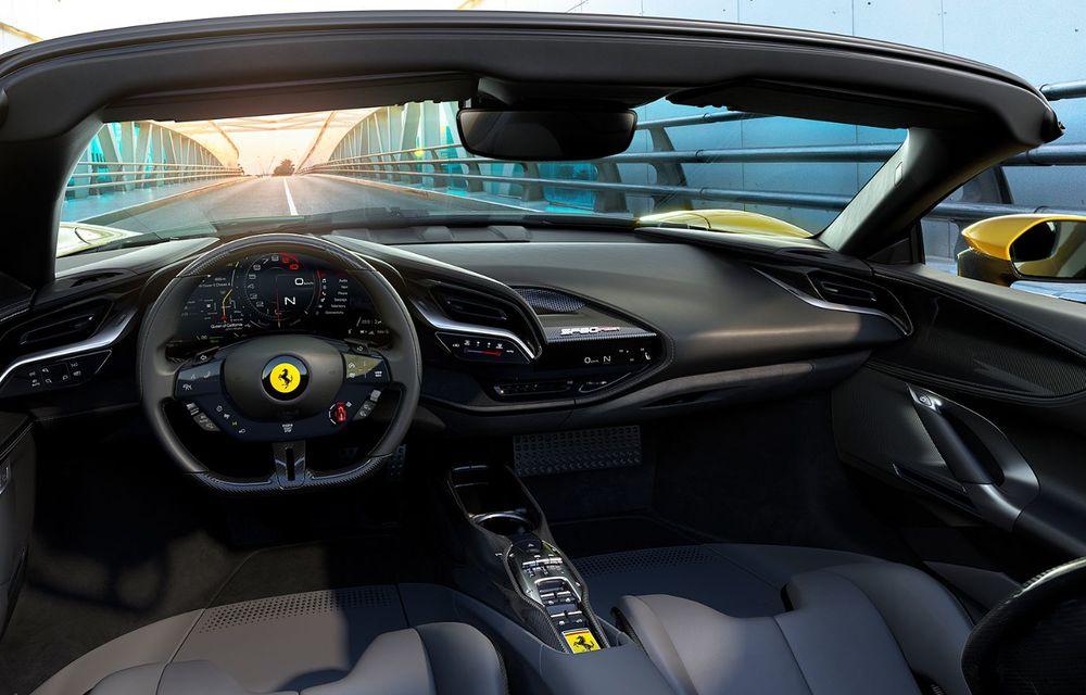 Ferrari a prezentat noul SF90 Spider: plafon hard top care poate fi coborât în 14 secunde și sistem plug-in hybrid de propulsie cu 1.000 CP - Poza 10