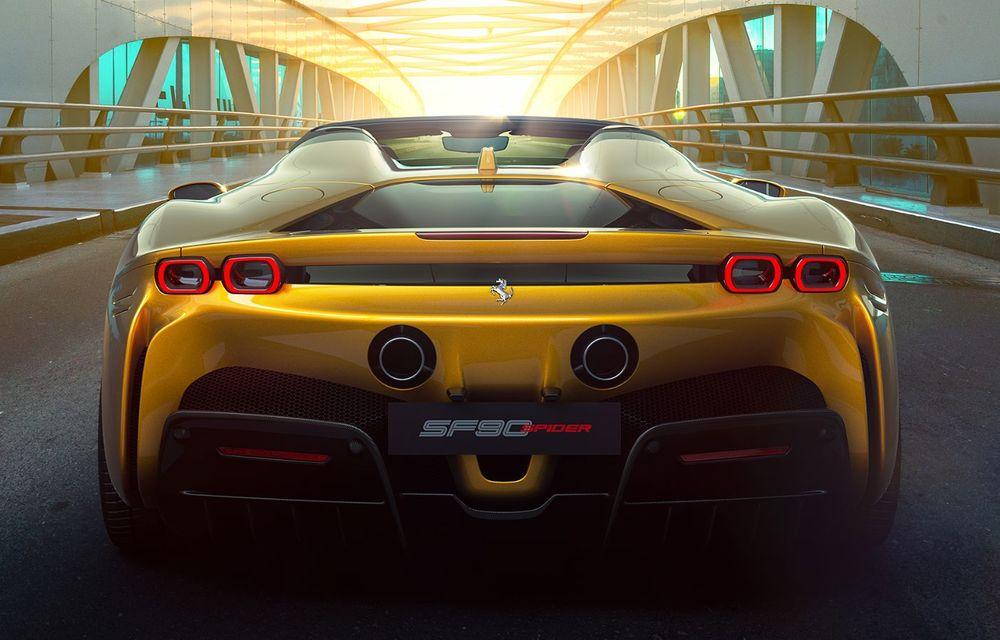 Ferrari a prezentat noul SF90 Spider: plafon hard top care poate fi coborât în 14 secunde și sistem plug-in hybrid de propulsie cu 1.000 CP - Poza 5