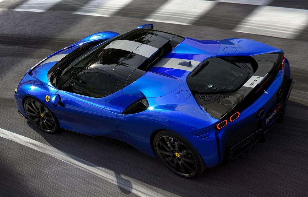Ferrari a prezentat noul SF90 Spider: plafon hard top care poate fi coborât în 14 secunde și sistem plug-in hybrid de propulsie cu 1.000 CP - Poza 8