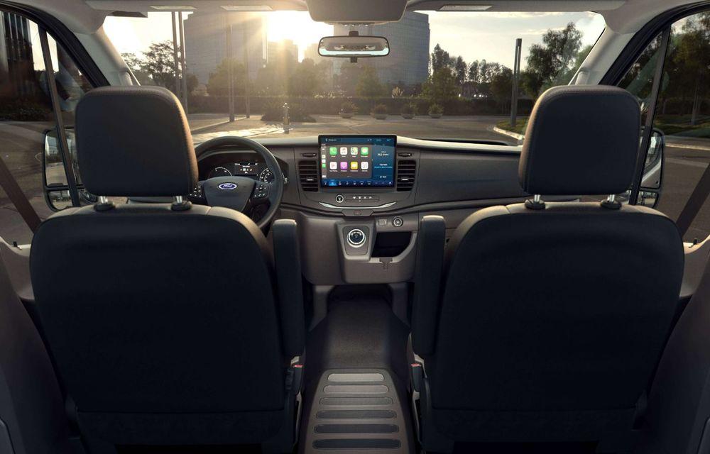 Primele imagini și detalii despre utilitara electrică Ford E-Transit: 269 de cai putere și autonomie de 350 de kilometri - Poza 8