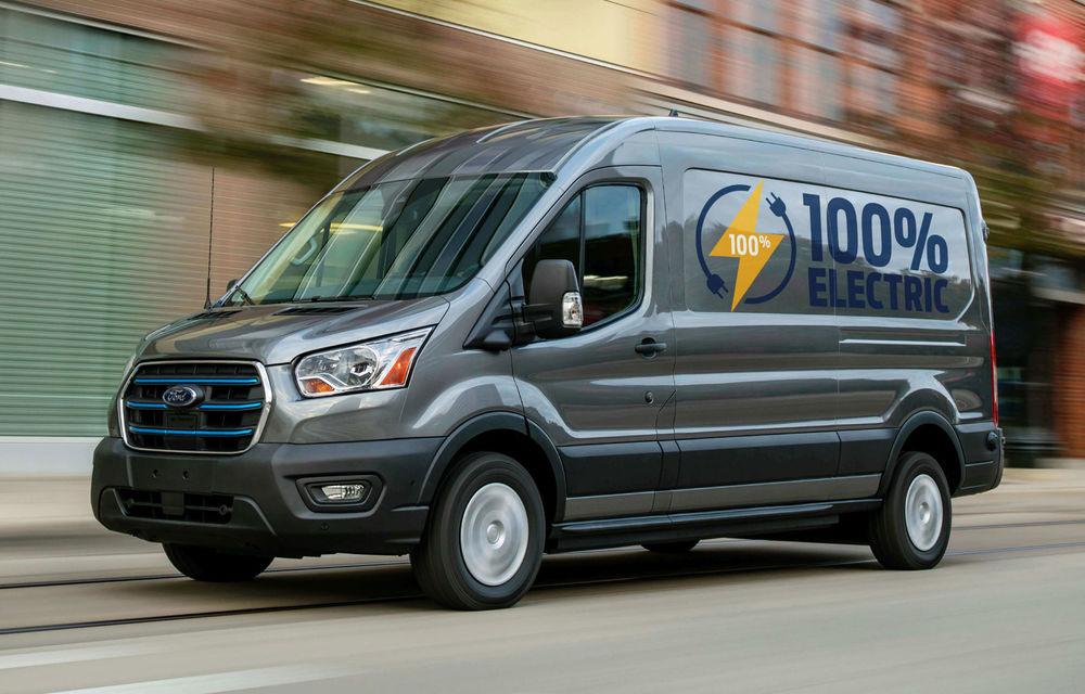 Primele imagini și detalii despre utilitara electrică Ford E-Transit: 269 de cai putere și autonomie de 350 de kilometri - Poza 1
