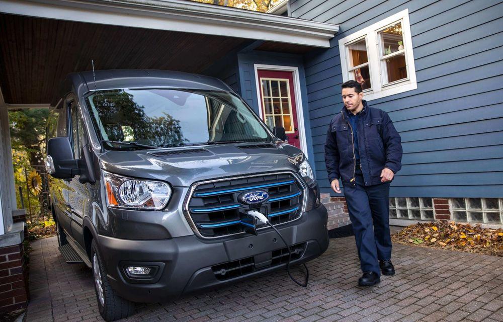 Primele imagini și detalii despre utilitara electrică Ford E-Transit: 269 de cai putere și autonomie de 350 de kilometri - Poza 4