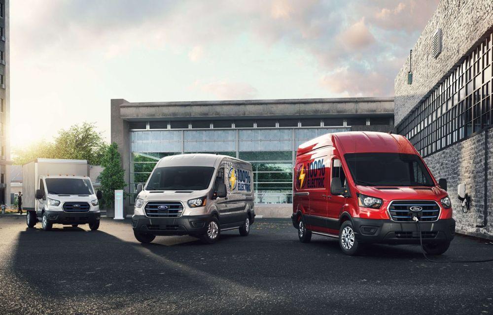 Primele imagini și detalii despre utilitara electrică Ford E-Transit: 269 de cai putere și autonomie de 350 de kilometri - Poza 2