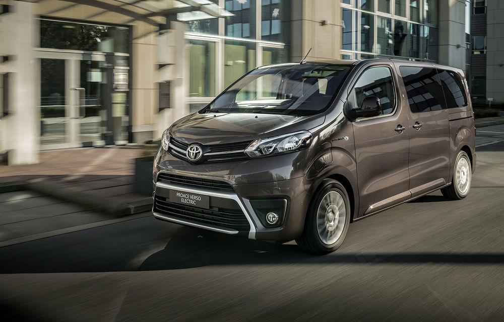 Toyota prezintă versiunea electrică a utilitarei Proace Verso: 136 de cai putere și autonomie de până la 330 de kilometri - Poza 1