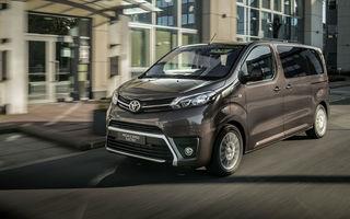 Toyota prezintă versiunea electrică a utilitarei Proace Verso: 136 de cai putere și autonomie de până la 330 de kilometri