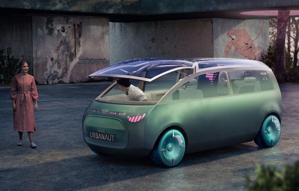 Mini a prezentat Vision Urbanaut: studiul de design anticipează tehnologiile și interiorul mașinilor autonome ale constructorului britanic - Poza 1