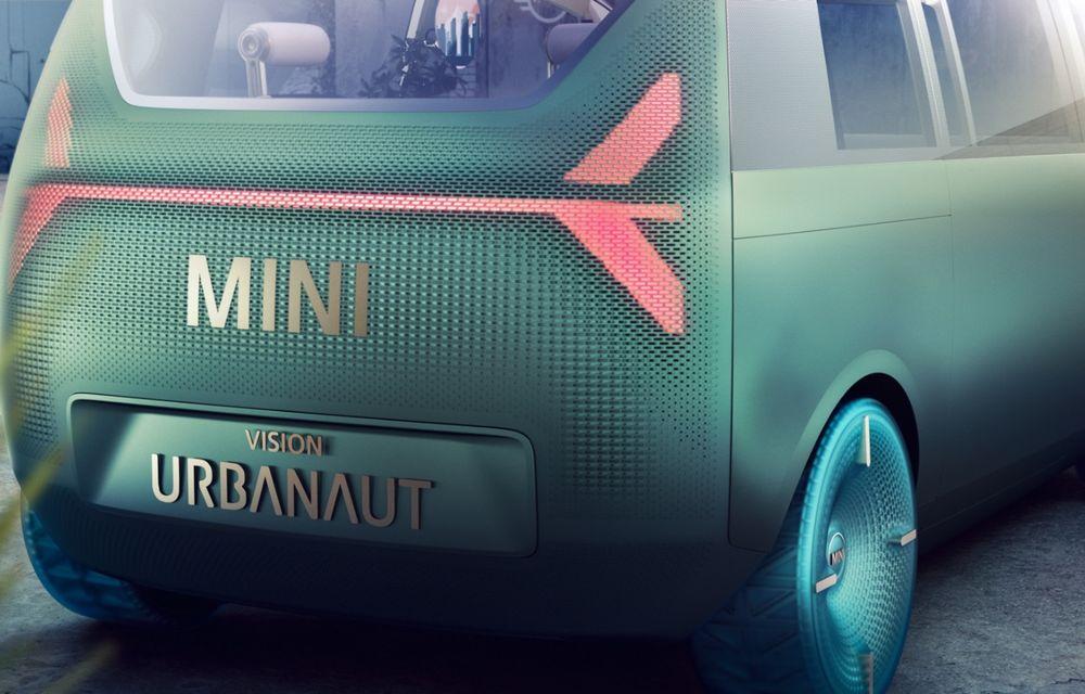 Mini a prezentat Vision Urbanaut: studiul de design anticipează tehnologiile și interiorul mașinilor autonome ale constructorului britanic - Poza 4