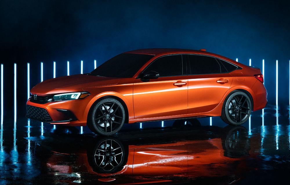Primele imagini cu prototipul viitoarei generații Honda Civic: sedanul compact va fi lansat în Statele Unite în primăvară - Poza 8