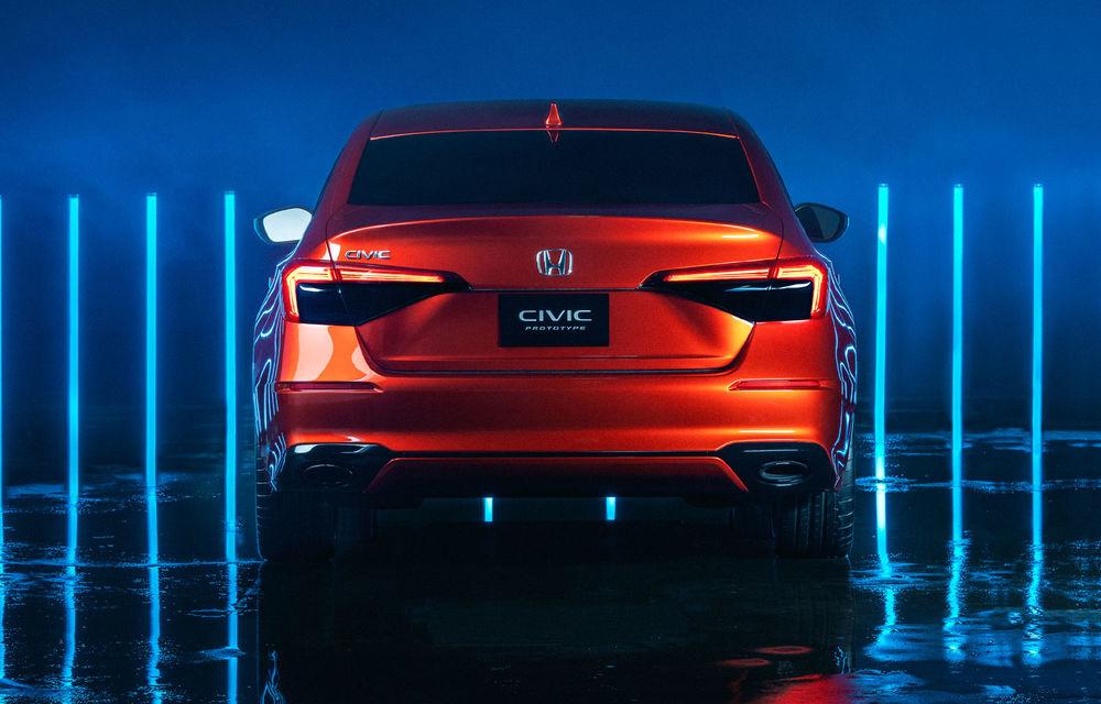 Primele imagini cu prototipul viitoarei generații Honda Civic: sedanul compact va fi lansat în Statele Unite în primăvară - Poza 6