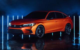 Primele imagini cu prototipul viitoarei generații Honda Civic: sedanul compact va fi lansat în Statele Unite în primăvară