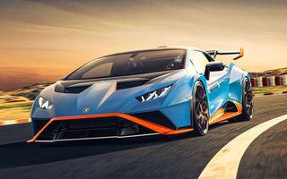 Lamborghini prezintă Huracan STO: modelul de stradă preia elemente aerodinamice de pe versiunea de circuit. Roți motrice spate și motor V10 cu 640 CP