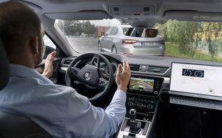 Skoda testează noi sisteme avansate: o mașină autonomă