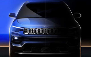 Primele teasere cu Jeep Compass facelift: SUV-ul compact va primi modificări de design și noutăți la interior