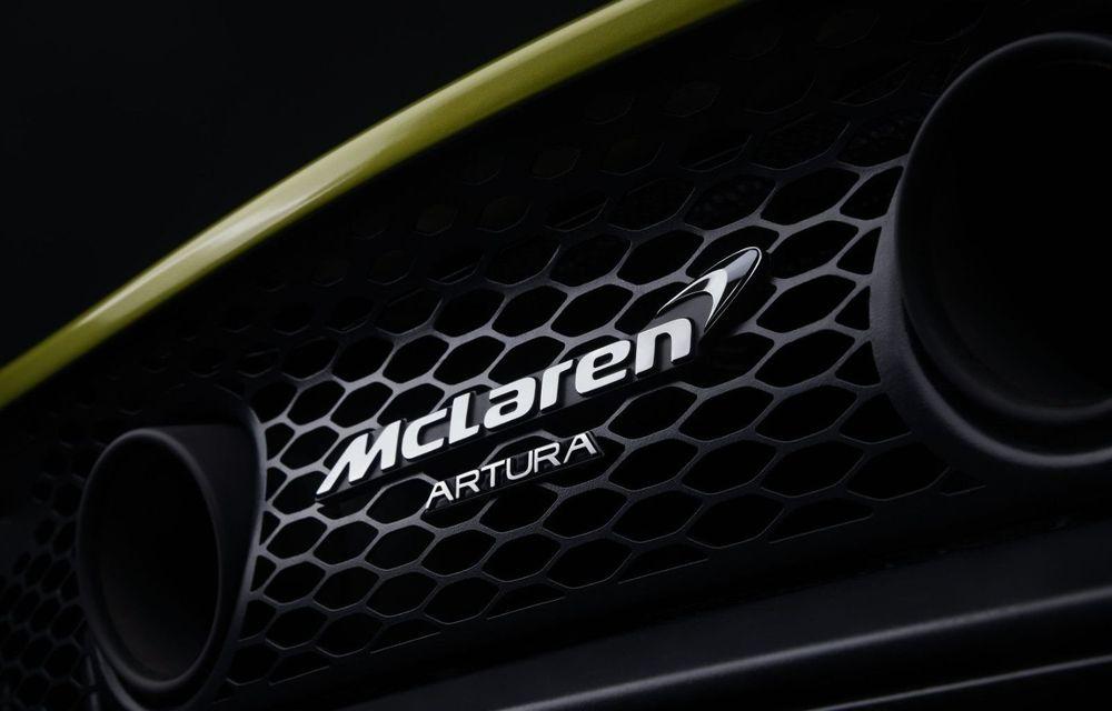 McLaren dezvăluie numele noului său supercar hibrid: vânzările lui Artura încep în prima jumătate din 2021 - Poza 1