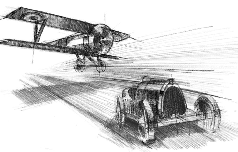 Bugatti Chiron Sport primește ediția limitată Les Légendes du Ciel: omagiu pentru primii piloți ai mărcii, care zburau în aviația franceză - Poza 21