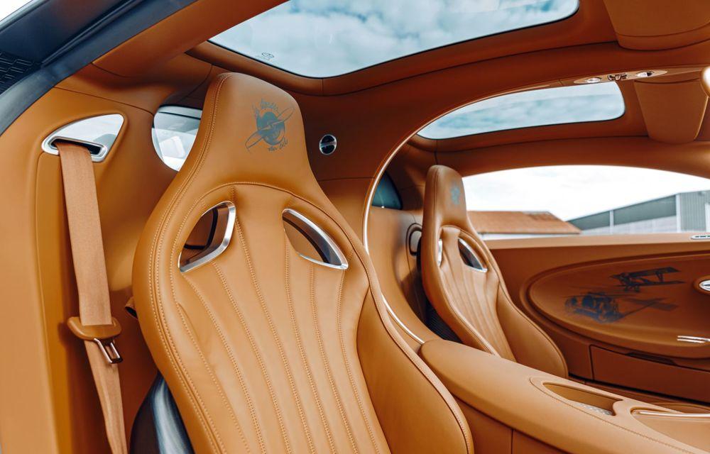 Bugatti Chiron Sport primește ediția limitată Les Légendes du Ciel: omagiu pentru primii piloți ai mărcii, care zburau în aviația franceză - Poza 12