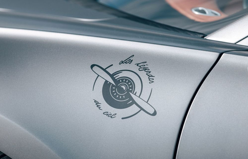 Bugatti Chiron Sport primește ediția limitată Les Légendes du Ciel: omagiu pentru primii piloți ai mărcii, care zburau în aviația franceză - Poza 11