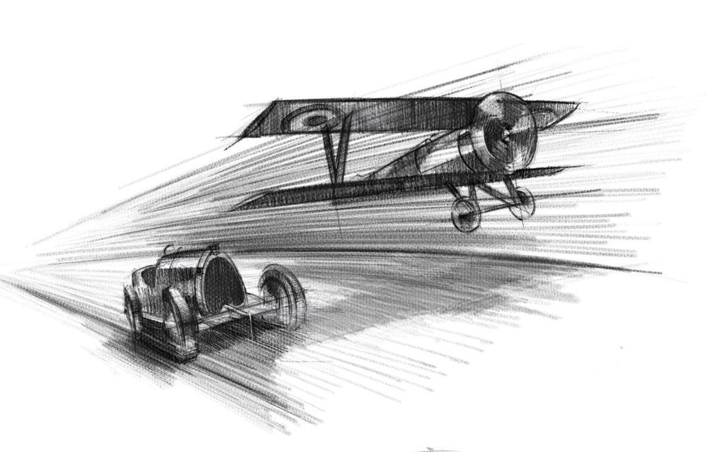 Bugatti Chiron Sport primește ediția limitată Les Légendes du Ciel: omagiu pentru primii piloți ai mărcii, care zburau în aviația franceză - Poza 20