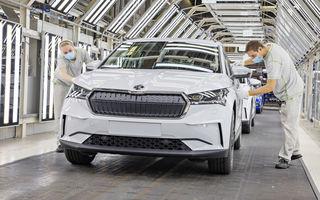 Skoda a început producția SUV-ului electric Enyaq iV: până la 350 de unități pe zi vor ieși de pe linia de asamblare