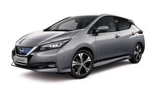 Mici îmbunătățiri pentru Nissan Leaf: modelul electric primește mai multe tehnologii și sisteme de siguranță