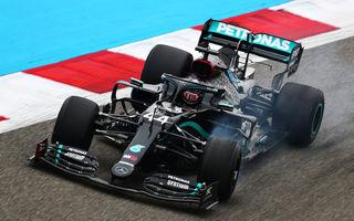 Hamilton, cel mai rapid în antrenamentele de vineri din Bahrain: Albon a suferit un accident în a doua sesiune