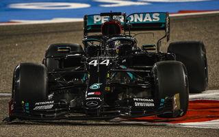 Hamilton, pole position în Bahrain în fața lui Bottas! Verstappen va pleca de pe trei, iar Ferrari a fost eliminată în Q2
