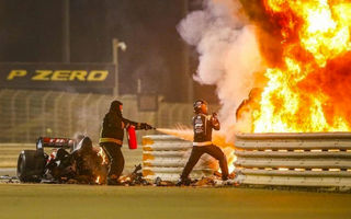 Accident major în cursa de Formula 1 din Bahrain: Grosjean a scăpat cu câteva arsuri după ce monopostul Haas a explodat