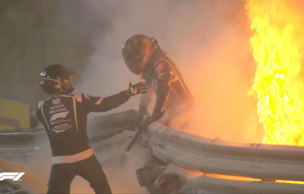 Hamilton a câștigat în Bahrain! Cursa a fost marcată de un accident pentru Grosjean, care a evadat dintr-un monopost în flăcări - Poza 2