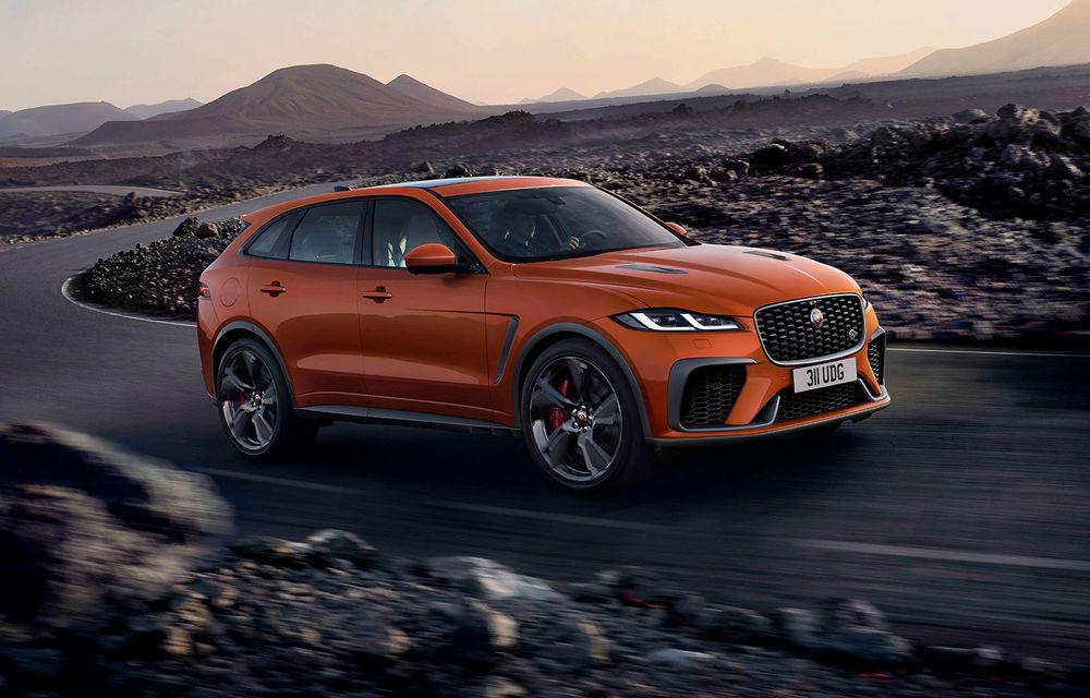 Jaguar a prezentat F-Pace SVR facelift: 550 de cai putere și 0-100 km/h în 4 secunde - Poza 1