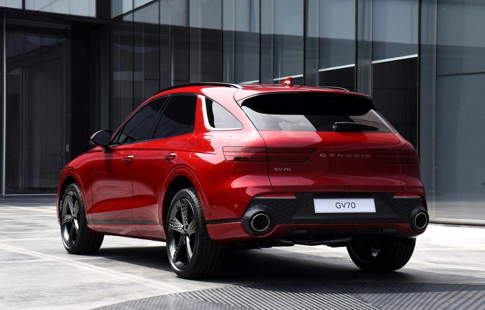 Primele imagini cu noul SUV Genesis GV70: detaliile tehnice vor fi anunțate în 8 decembrie - Poza 9